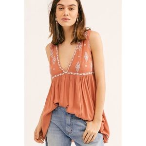 Free People Diamond Embroidered Top S/P